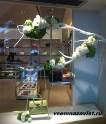 Комплект для декора: качели, объемные цветы и коряга