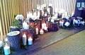 Аренда композиции из спилов и свечей