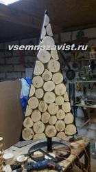 Ёлка из спила дерева