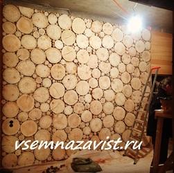 Панно из шлифованных спилов дерева