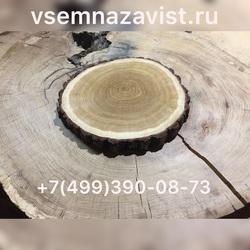 Спил дуба с корой 30-35 см