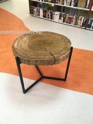 Стол из спила дуба