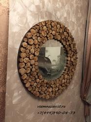Зеркало из спилов дерева
